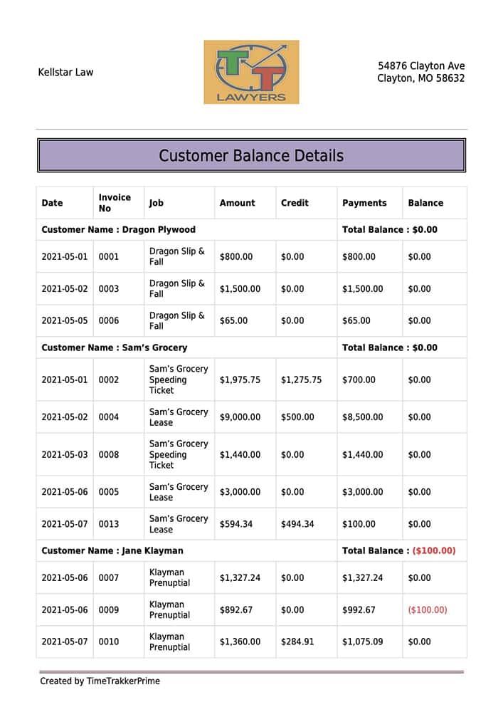 TTP Customer Balance Summary report_pg1_zd